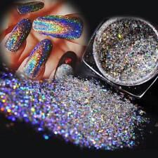 Nail Flakes Bling Rainbow Laser Nail Art Sequins Holographic Glitter Powder