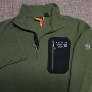 MOUNTAIN HARDWEAR 1/4 ZIP POLY FLEECE PULLOVER--XL--DRY CLEANED--SPOTLESS!!