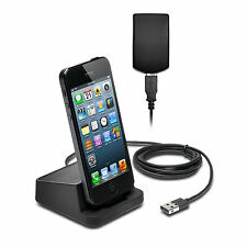 IPhone 5 5S 5C 6S Plus iPod Touch 5th Gen Nano 7th Gen Caricabatterie & Sync Dock Stand