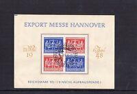 Gemeinschaftsausgaben - Sonderblatt - Hannover Messe 1948 mit Sonderstempel