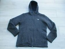 The North Face Mens Zermatt Full Zip Hoodie L Blue Fleece Lined Wool