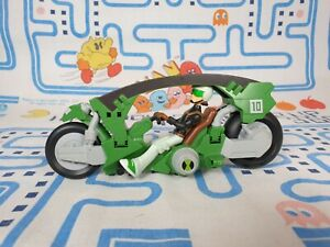 Ben 10 Motorcycle Cartoon Network Vehicle and Exclusive Ben Tennyson Figure