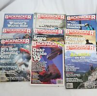 Backpacker Magazine Camping Hiking Trails Outdoors 1995 Buyers Guild lot of 9