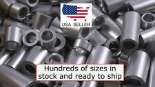 "New Aluminum Spacer Bushing 3/4"" Od x 3/8"" Id-Fits M10 or 3/8"" Bolts"