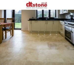 NATURAL STONE IONIAN TRAVERTINE -HONED & FILLED- WALL & FLOOR TILES 406x406mm