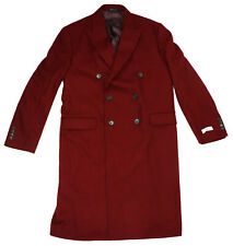 Calvin Klein Men's 42R X Slim Fit Wool Blend Monarch Collection Coat NWT Ruby