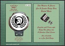Royale AUTO SCOOTER BADGE BAR + RACCORDI-Trojan Laurel 2 TONE SKA-b1.2824