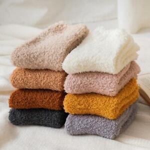 6Pairs Women Ladies Soft Fluffy Bed Socks Winter Warm Lounge Slipper Fleece Sock