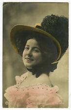 c 1907 Antique Glamour Theater ? FELCITAS CERIGIOLI Traut photo postcard