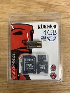 Kingston 4GB Micro SDHC Card w SDHC/miniSDHC Adapter & USB Reader