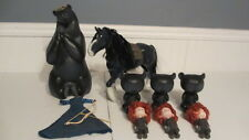 RARE DISNEY PIXAR BRAVE TRANSFORMING QUEEN ELINOR CASE & TRIPLET CUB CASES HORSE
