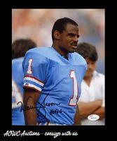 Autographed Photo - Warren Moon - Houston Oilers - NFL Hall of Fame - JSA Cert.