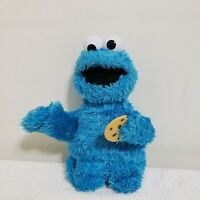"Sesame Street Feed Me Cookie Monster Plush Talks and Vibrates 13"" E1961 TESTED"