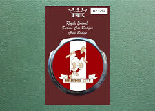 Royale Modern Classic Car Grill Badge 1960's BRISTOL CITY FOOTBALL  B2.1292