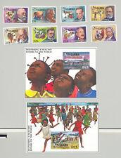 Gambia #908-917 Nobel Prize, Medicine 8v & 2v S/S Imperf Proofs