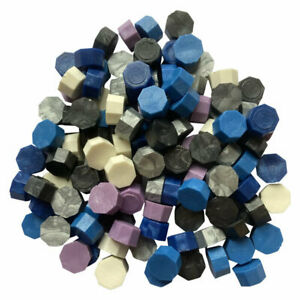 Stormy Night mixed colors Wax Beads - approx 250 total (see listing for colors)