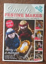 KNITTING PATTERN Christmas Nativity Toys Crochet Pull Out FREE POSTAGE