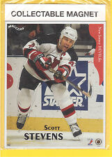 Scott Stevens New Jersey Devils 1996 Maggers 2 pc Hockey Magnet Set MIP