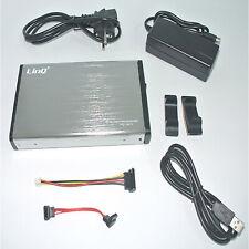 """BOX CASE ESTERNO 3,5"""" SATA/IDE 2.0 PER HARD DISK USB/ALIMENTAZIONE/KIT MONTAGGIO"""
