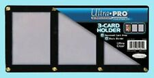 ULTRA PRO BLACK FRAME 3 CARD SCREWDOWN HOLDER New Clear Wall Storage Display