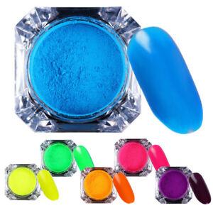 2g Neon Phosphor Pigment Nail Glitter Powder  Nail Art Dust BORN PRETTY
