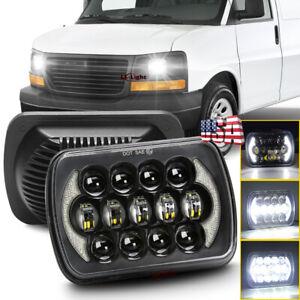 "7x6"" LED Headlight Hi/Lo Beam Halo DRL for GMC Savana 1500 2500 3500 Safari Van"