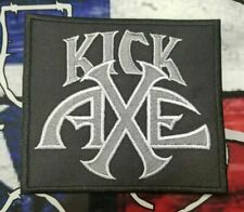 EMBROIDERED KICK AXE HEAVY METAL BAND PATCH