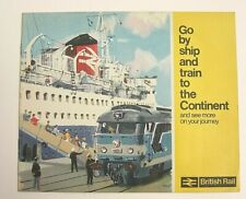 Original BR Brochure Go By Ship & Train to The Continent Artist Albert Brenet 66