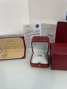 Cartier Platinum GIA .80 H VVS1 Solitaire Diamond Engagement Ring