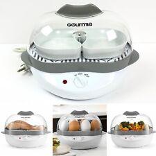 Gourmia GEC175 Electric Egg Cooker Versatile Boils Poaches Steams Multiple Trays