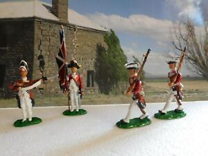 54mm white metal Colonial British Infantry Redcoats 1770.