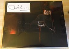 David Bradley THE STRAIN Signed 11x14 Display AFTAL