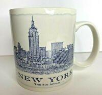 STARBUCKS 2008 NEW YORK The Big Apple Blue Architect Series Coffee Mug Cup 18 oz