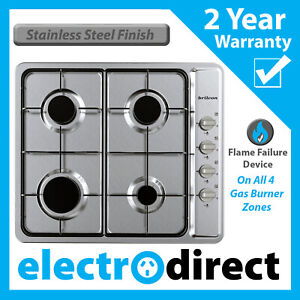 Brilcon 60cm Gas Cooktop Stainless Steel Heavy Duty Stove Cook Top Hob Cooker
