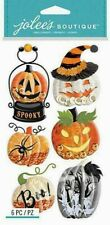 HALLOWEEN Pumpkin Boo Spider Ghost Scary Spooky Snow Globes Jolee's stickers