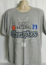 Duke Blue Devils 2001 NCAA Basketball Champions Tee T-Shirt Size Large