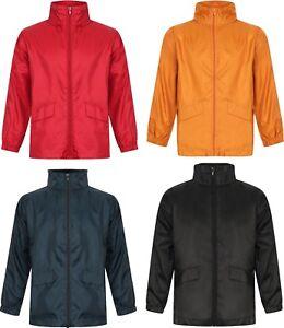 Boys Girls Kids Rain Coat Packaway PAC A MAC Jacket Waterproof School Hood Zip