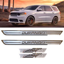 Car Protector Door Sill Scuff Plate for DODGE DURANGO 2018-2020 Stainless Steel