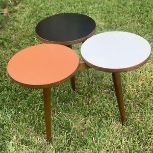 Greta Grossman Formica and Walnut Tricircular Coffee Table - Glenn of California