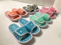 Kids Girls Boys Toddler Slip On Slide Beach Pool  Sandals Shoes Size 6-10