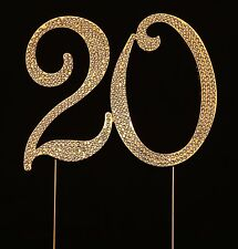 Numbrer 20 for 20th Birthday or Anniversary Cake Topper Party Decoration Supp...