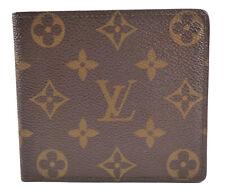 Louis Vuitton Authentic Men's Wallet Slim Monogram Canvas & Leather Card Bi-fold
