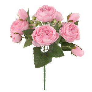 Artificial Flowers Peony Real Looking for DIY Wedding Bouquets Centerpieces