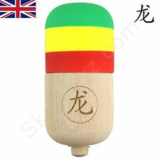 Dragon Kendama Wooden Pill. Great fun game of skill! Rubber Paint  Rasta Edition