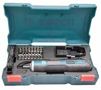 Bosch Go 3,6 V Smart Akkuschrauber Set 33Bit USB Ladekabel & Adapter