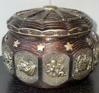 Music Box with 12 Constellations and Sankyo 18-Note Wind Up Signs of The Zodiac