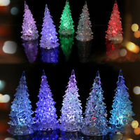 Xmas Tree LED Night Light Mini Crystal Color Changing Color Lamp Xmas Decor