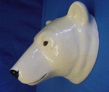 More details for quail ceramic polar bear wall vase pocket - arctic wildlife animal model figure
