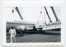PIEDMONT AIRLINES Airliner Aircraft Maintenance Repair Lot of 2 Vintage Photos