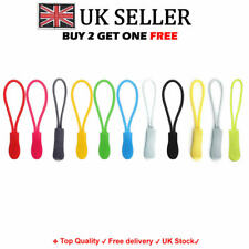 Set of 5 / 10 Zip Pull Zipper Puller Cord Slider Fastener Jacket Bag Backpack